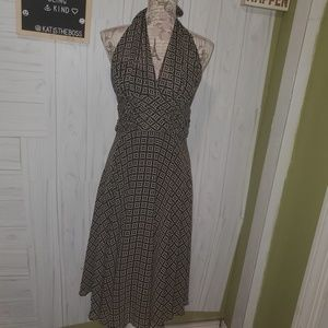 CONNECTED APPAREL LINED HALTER DRESS SZ 10